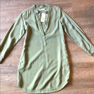Kenneth Cole Army Green Shift Dress